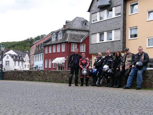Foto zeigt die Gruppe im schönen Bad Münstereifel