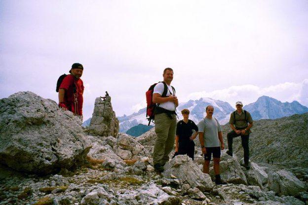 Bergwanderung in Südtirol (Dolomiten)